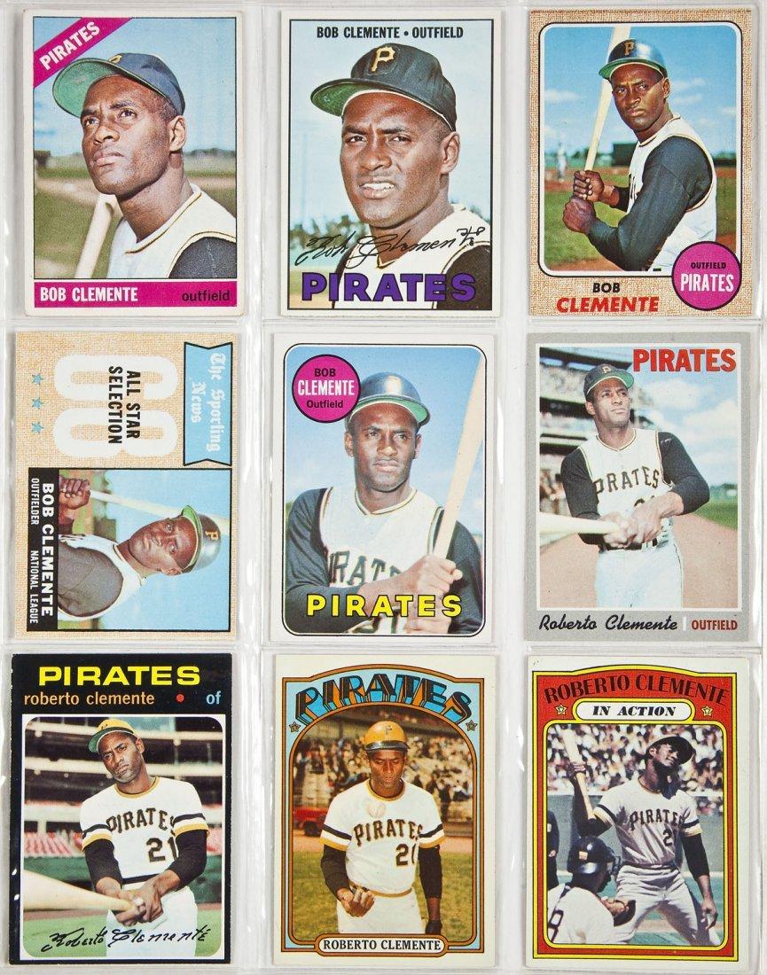 9 Circa 1960s-1970s Roberto Clemente Cards