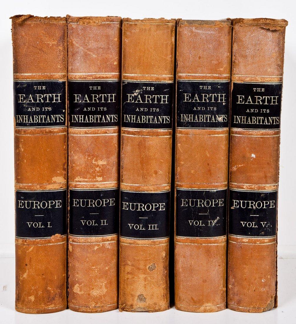 1881 Earth & It's Inhabitants E. Reclus 5 Vols