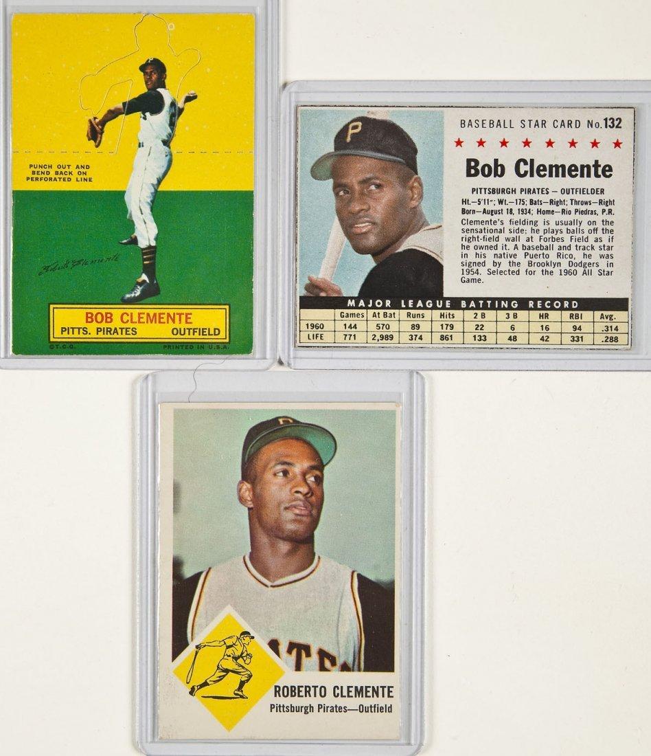 3 Circa 1960's Roberto Clemente Cards