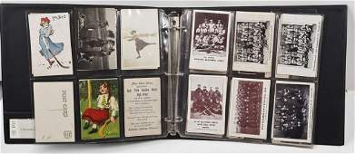 51 Vintage Postcards Women in Sports incl RP