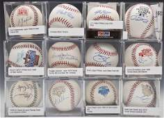 12 Autographed Baseballs incl Reggie Jackson