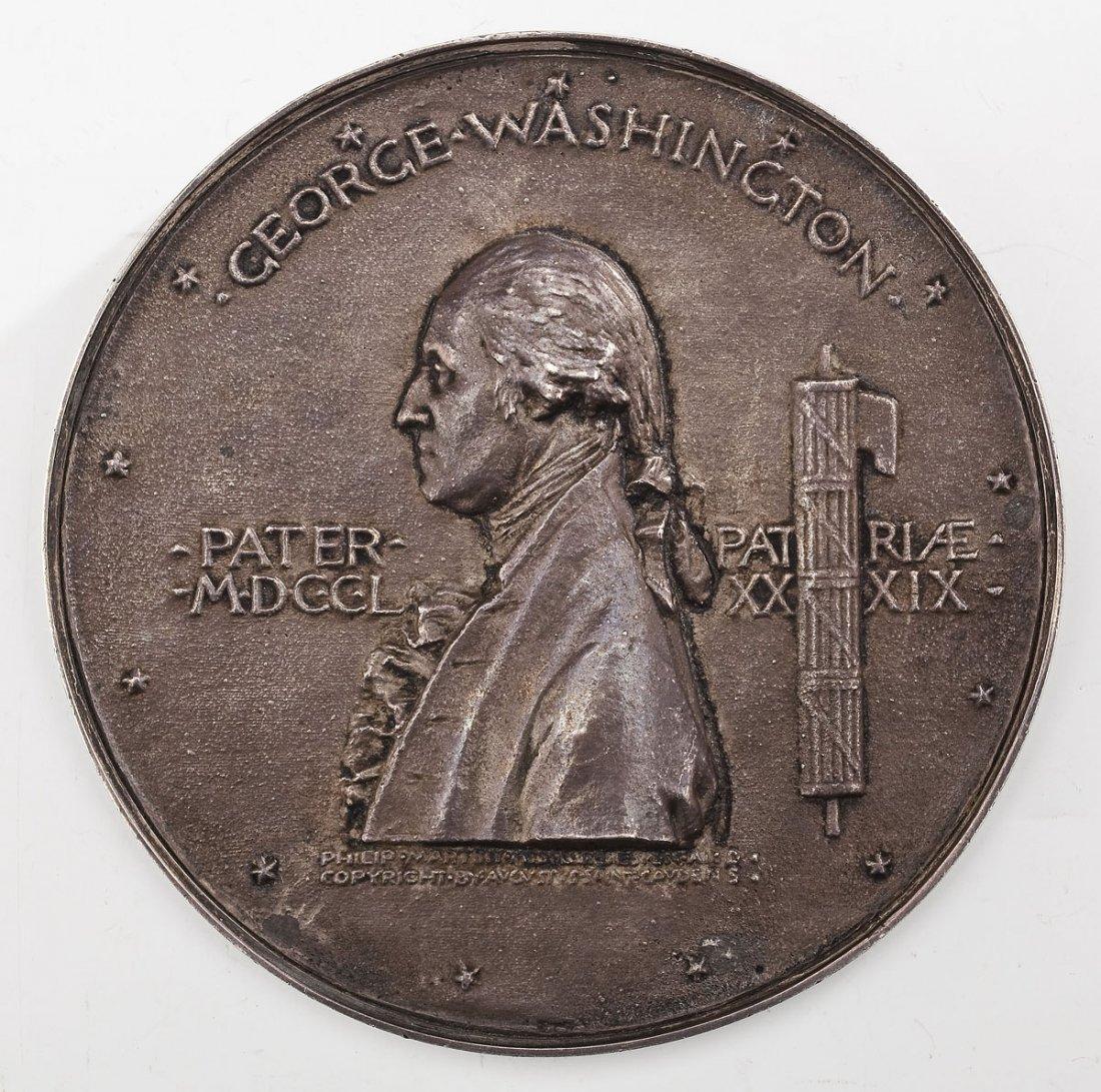 1889 Silver Washington Inaugural Centennial Medallion