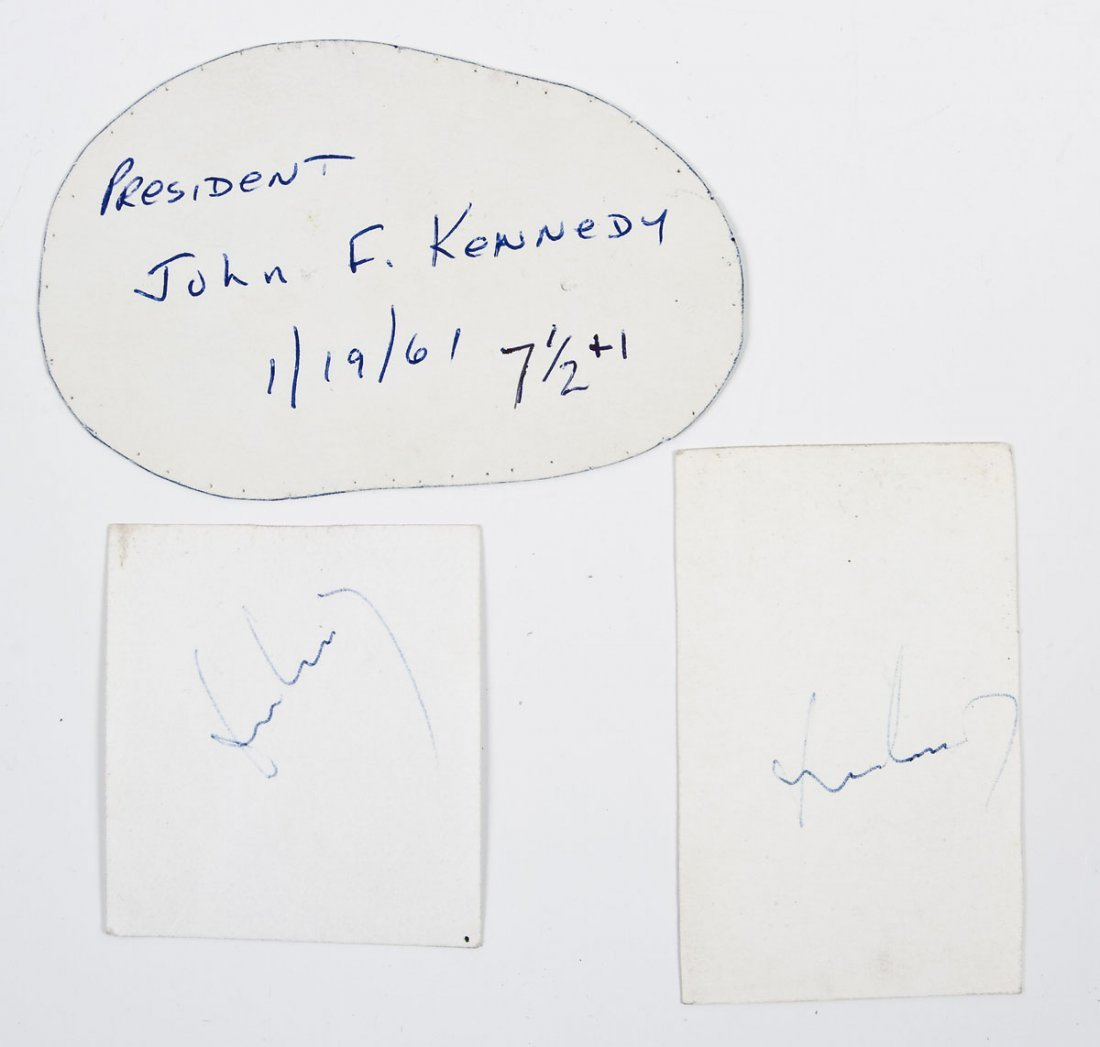John Kennedy Inaugural Hat Template w/2 Signatures