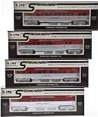 4 K-Line Streamliner Passenger Cars in OBs