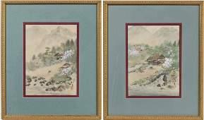 2 Chinese School 20th Century Paintings on Silk