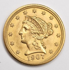 1907 Liberty Head $2.50 Gold Quarter Eagle