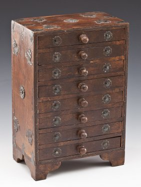 Asian Miniature Chest Of Drawers