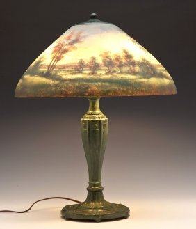 "18"" Jefferson Reverse Painted Lamp"
