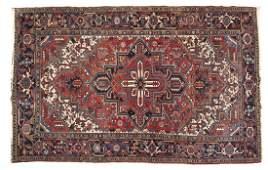 Semi-Antique Persian Heriz Room Size Rug