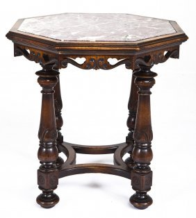 Continental Octagonal Marble Top Center Table