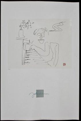 John Lennon Lithograph Baby Grand