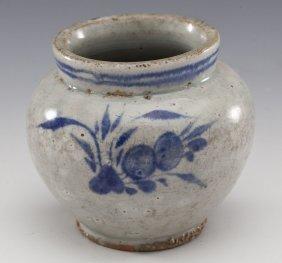 Korean Celadon Glazed Jar
