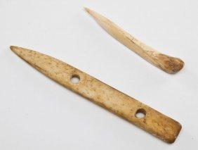 Pair Early Native American Bone Awls