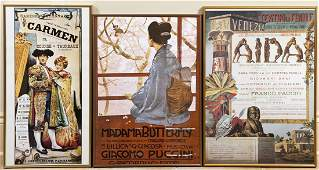 Three Framed Opera Posters