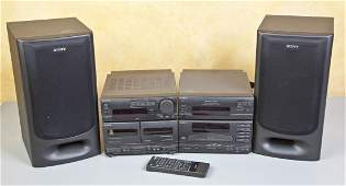 Sony CD Player and Tape Deck with Speakers