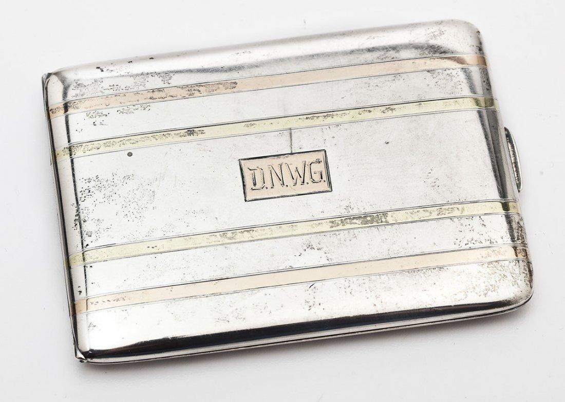 R. Blackton Sterling Silver & 14K Cigarette Case