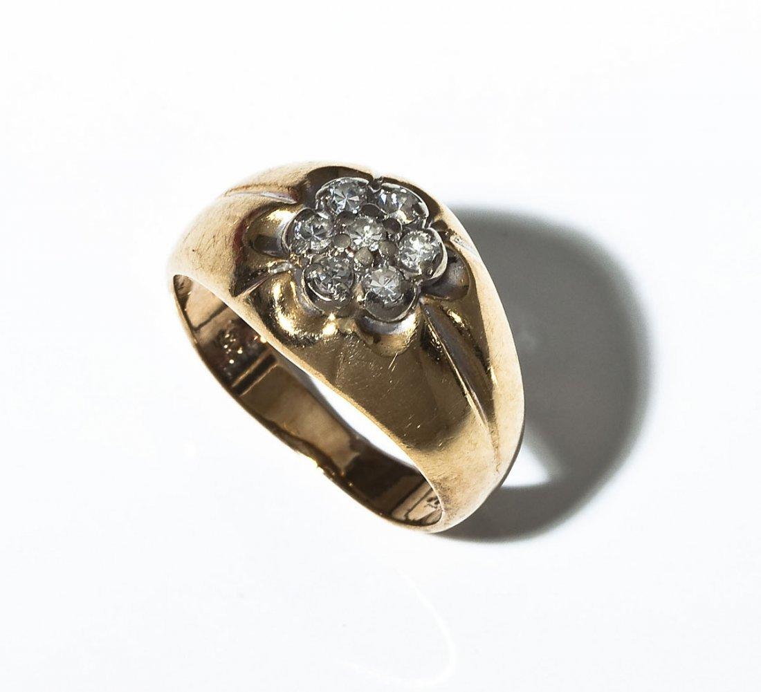10K Gold & Diamond Pinky Ring