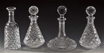 4 Waterford Crystal Decanters