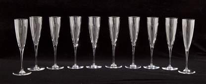 10 Baccarat Dom Perignon Champagne Flutes