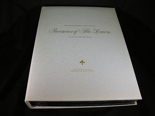 211: Franklin Mint Treasures of Louvre 50 925 Medals