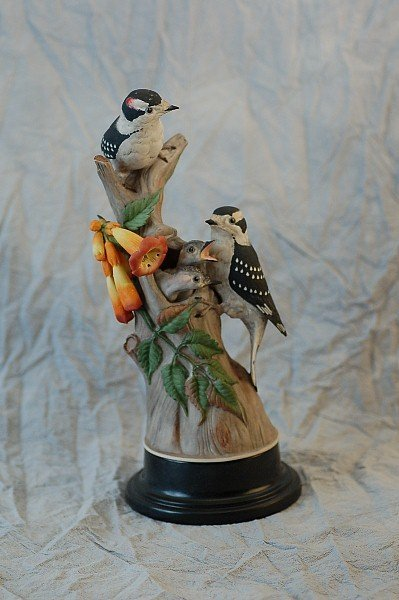 292: Boehm Limited Edition 427E Downy Woodpeckers
