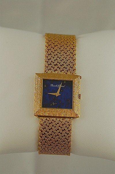 465: Man's 18K Gold & Lapis Bueche-Girod Wristwatch