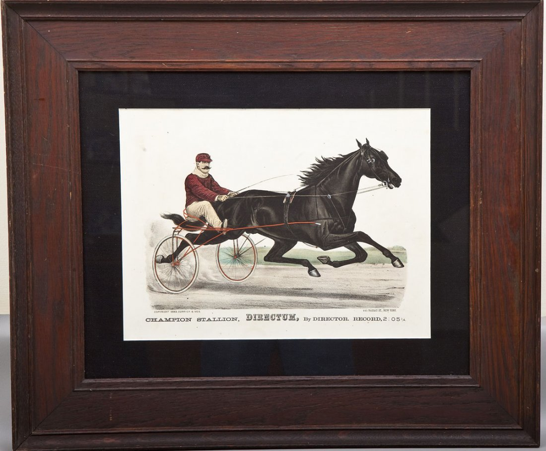 Currier & Ives Directum Trotting Lithograph