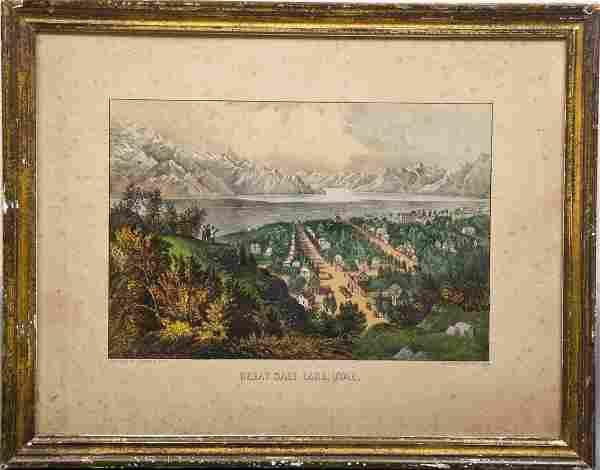Currier & Ives Great Salt Lake, Utah
