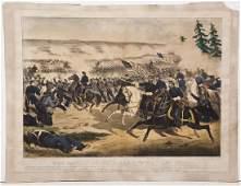 Currier  Ives The Battle of Fairoaks