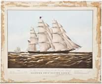 N Currier Clipper Ship Flying Cloud