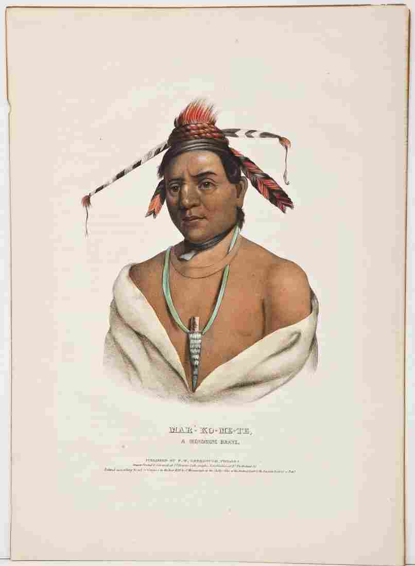 McKenney & Hall Large Folio Indian Lithograph