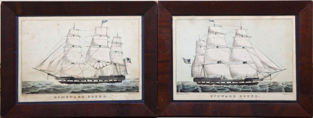 2 N. Currier Ship Lithographs