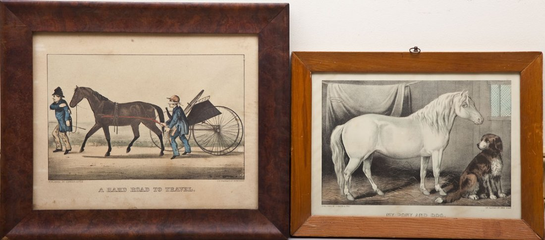2 Currier & Ives Horse Lithographs