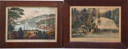 2 Currier  Ives Water Views
