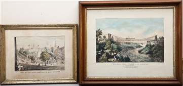 2 Currier  Ives New York Related Views
