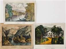 3 Currier  Ives American Scenes