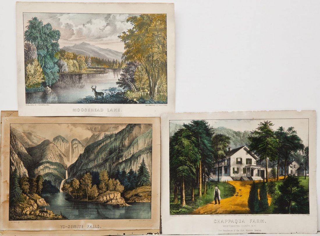3 Currier & Ives American Scenes