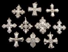 10 Reed  Barton Sterling Silver Christmas Crosses