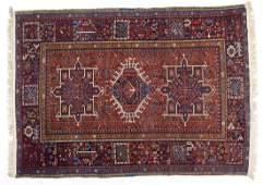 Semi-Antique Persian Karaja Area Rug