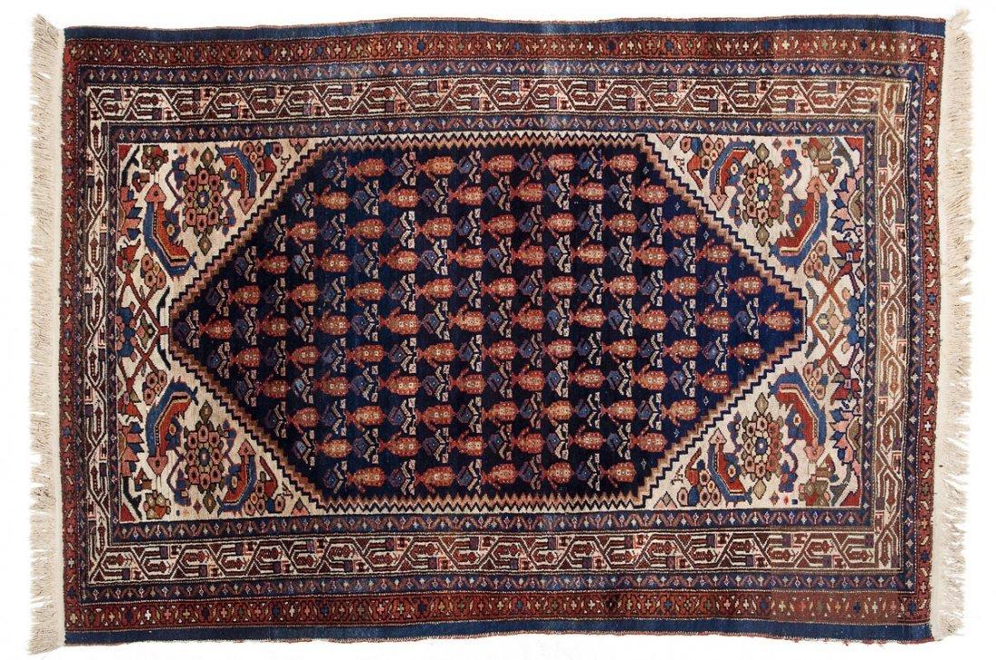 Semi-Antique Persian Malayer Area Rug