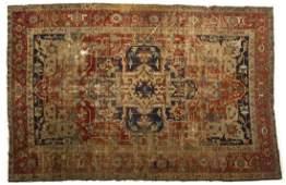 Antique Persian Heriz Room Size Rug