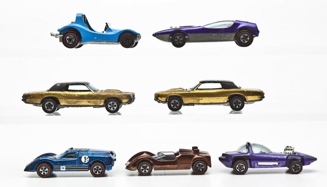 7 Hot Wheels Redline Sports Cars - 2