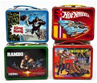 4 Vintage Lunch Boxes incl King Kong