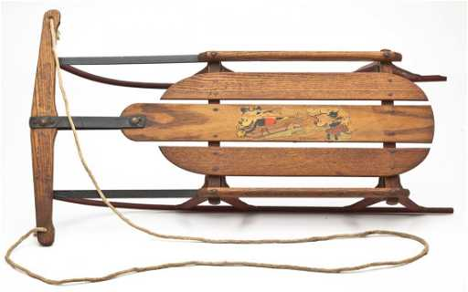 1930s Mickey Mouse Flexible Flyer Sled