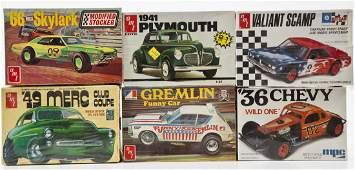 5 AMT Model Car Kits  1 MPC 36 Chevy Model Kit