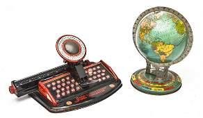 2 Vintage Pressed Tin Toys