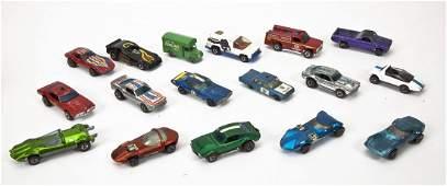 17 Die Cast Cars incl. Hot Wheels Redlines & Moko