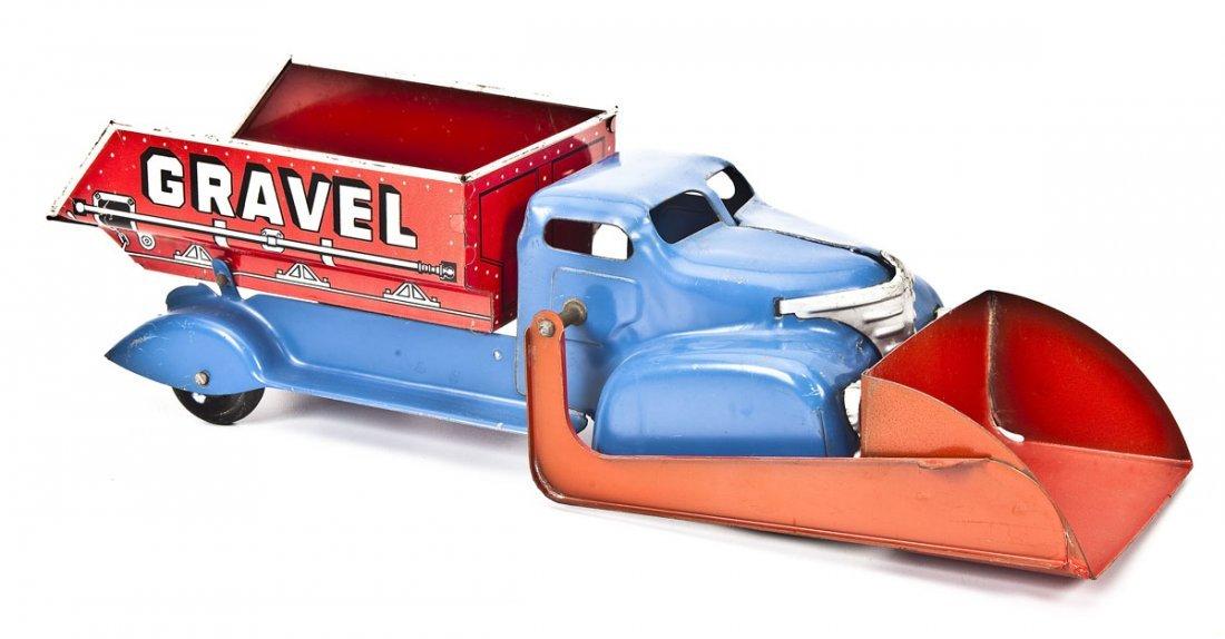 MAR Pressed Tin Toy Sand & Gravel Truck