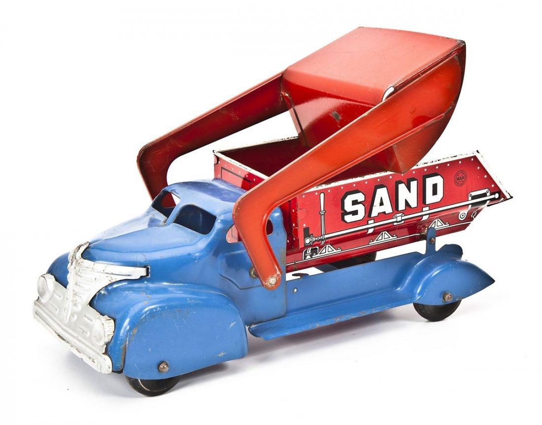 MAR Pressed Tin Toy Sand & Gravel Truck - 2