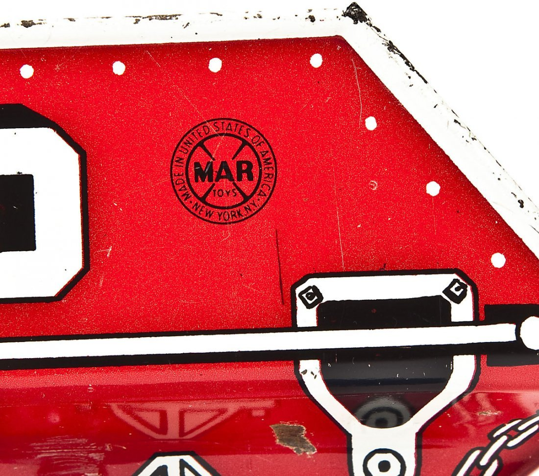 MAR Pressed Tin Toy Sand & Gravel Truck - 3